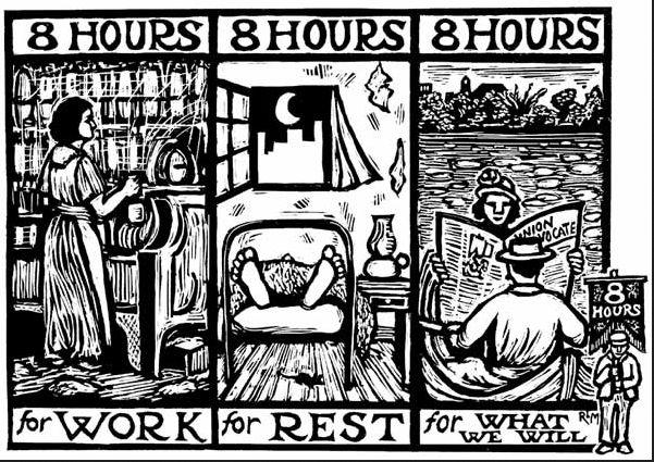 8 timmars arbete