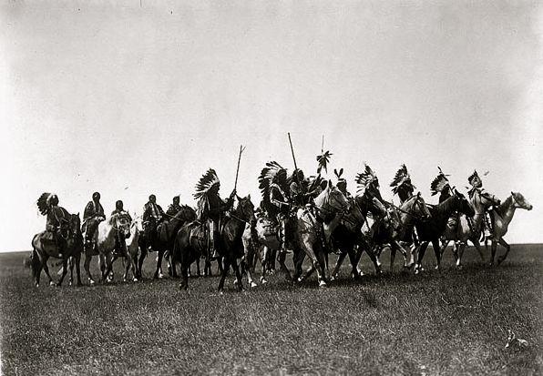 stridande indianer