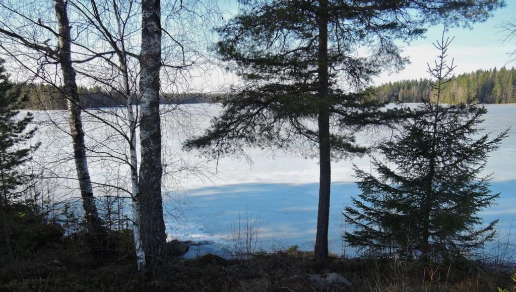 blått o gult på sjön