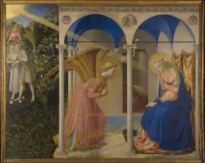 La Anunciación, by Fra Angelico, from Prado